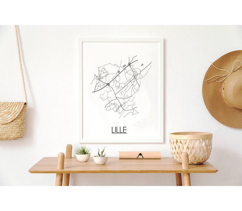 Lille Stadtplan-poster