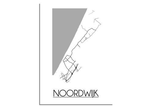 DesignClaud Noordwijk Stadtplan-poster