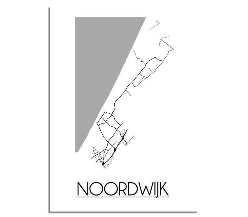 Noordwijk Stadtplan-poster