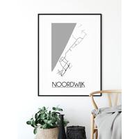 Noordwijk Plattegrond poster