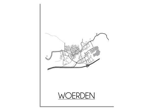 DesignClaud Woerden Plattegrond poster