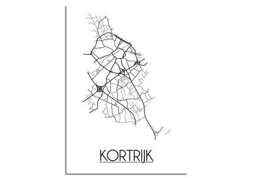 DesignClaud Kortrijk België Plattegrond poster