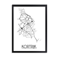 Kortrijk Stadtplan-poster