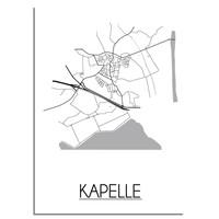 Kapelle Plattegrond poster