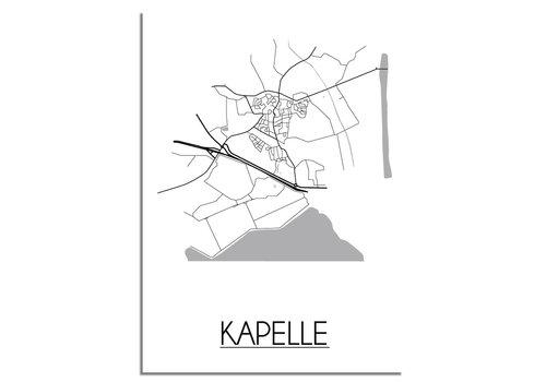 DesignClaud Kapelle Plattegrond poster