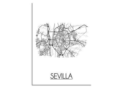 DesignClaud Sevilla Plattegrond poster