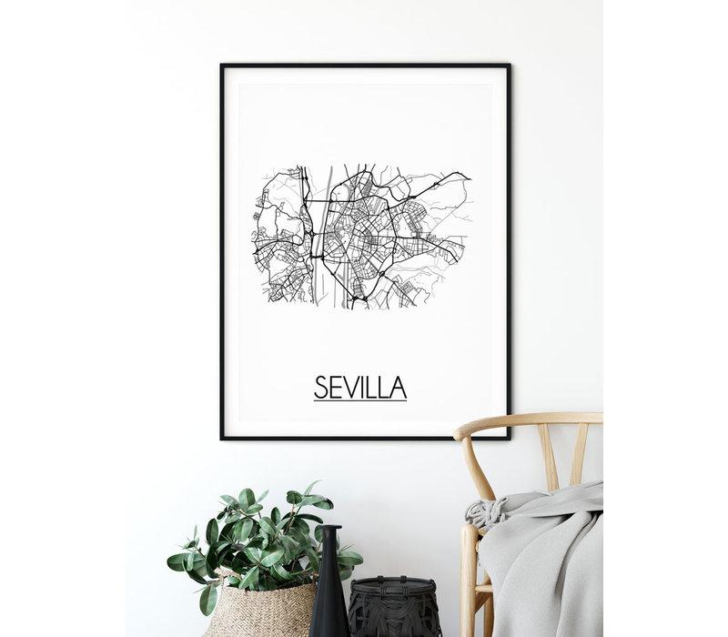 Sevilla Plattegrond poster