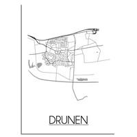 Drunen Stadtplan-poster