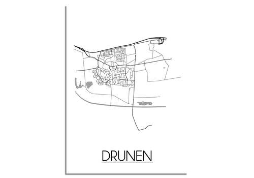 DesignClaud Drunen Plattegrond poster