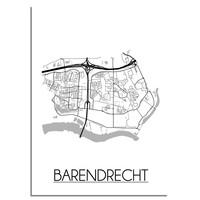 Barendrecht Plattegrond poster