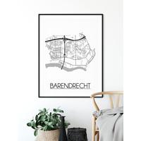 Barendrecht Stadtplan-poster