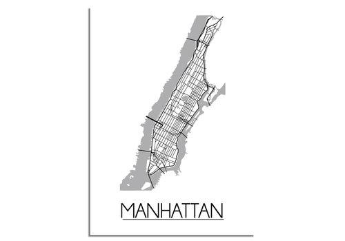 DesignClaud Manhattan NYC Stadtplan-poster