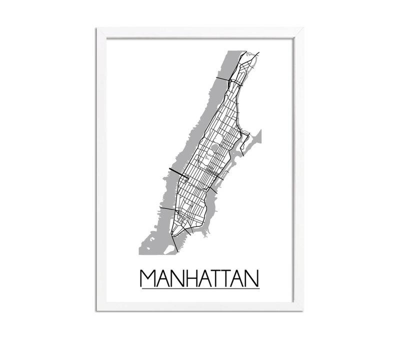 Stadtplan-poster auf Wunsch