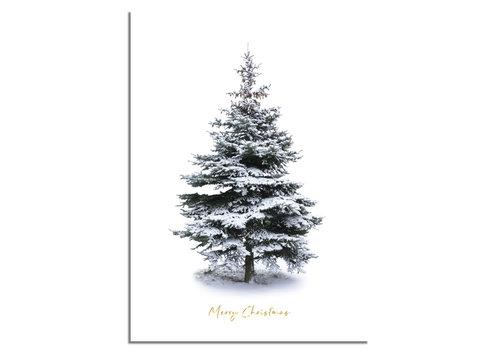 DesignClaud Kerstposter Merry Christmas Kerstboom - Goudfolie