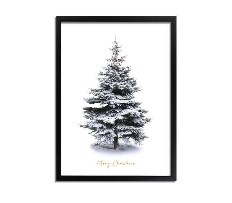 Weihnachtsposter Frohe Weihnachten Weihnachtsbaum - Goldlöckchen