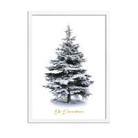 Kerstposter Kerstboom Goudfolie Oh Denneboom