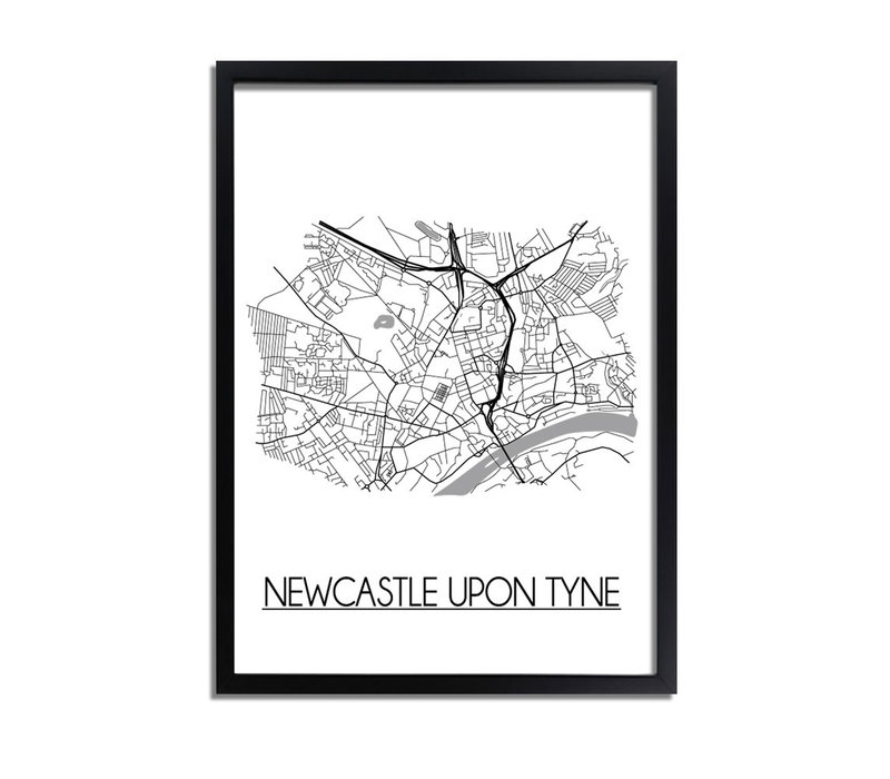 Newcastle upon Tyne Stadtplan-poster