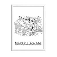 Newcastle upon Tyne Plattegrond poster