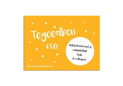 Cadeaubon DesignClaudShop 50 euro - Per post