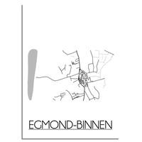 Egmond-Binnen Plattegrond poster