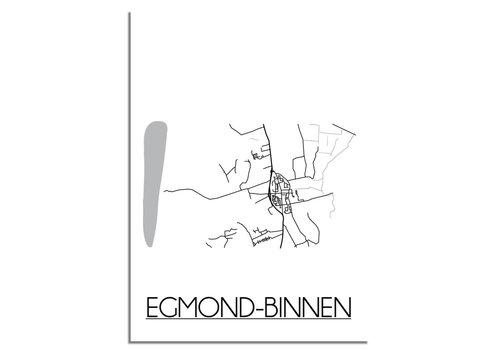 DesignClaud Egmond-Binnen Plattegrond poster
