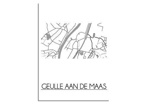 DesignClaud Geulle aan de Maas Plattegrond poster