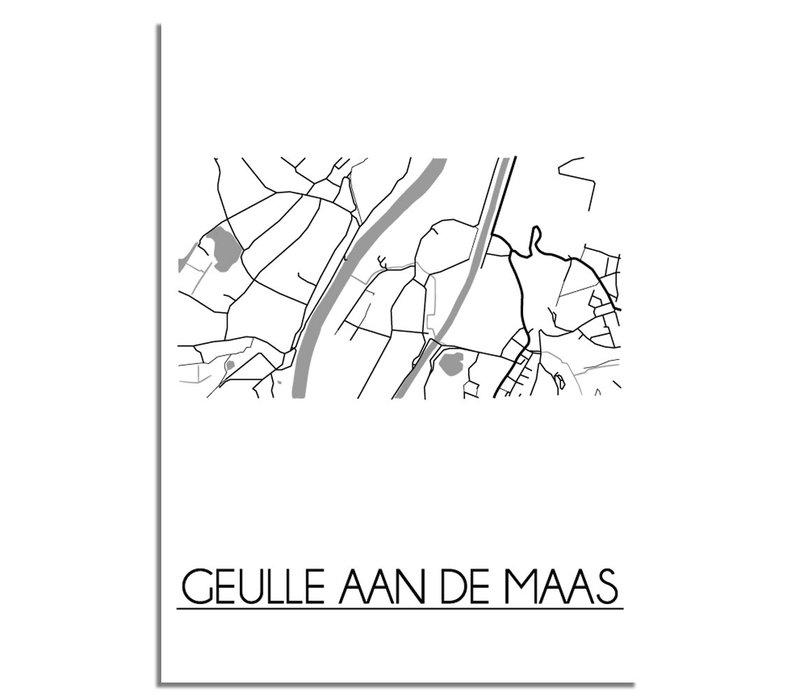 Geulle aan de Maas Stadtplan-poster