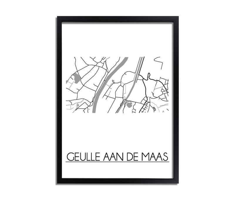 Geulle aan de Maas Plattegrond poster