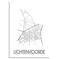 Lichtenvoorde Stadtplan-poster