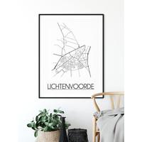 Lichtenvoorde Plattegrond poster