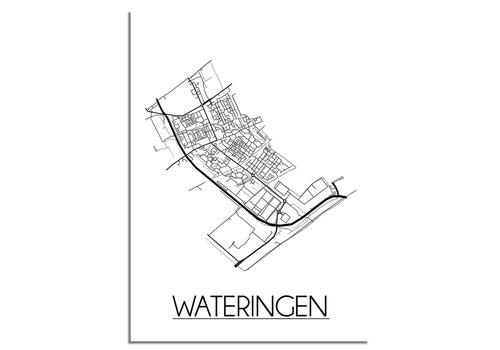 DesignClaud Wateringen Plattegrond poster