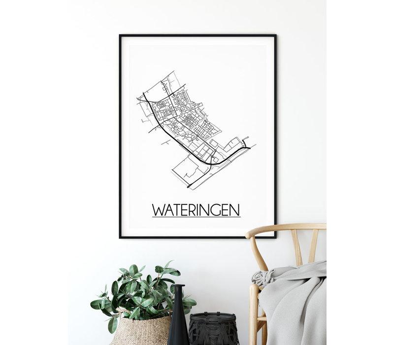 Wateringen Plattegrond poster