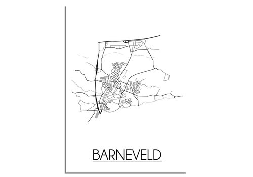 DesignClaud Barneveld Plattegrond poster