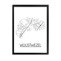Wuustwezel Stadtplan-poster