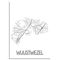 Wuustwezel Plattegrond poster