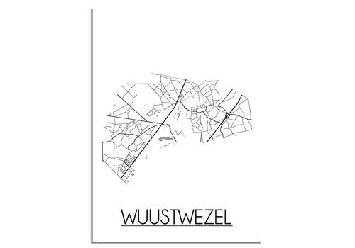 DesignClaud Wuustwezel Plattegrond poster