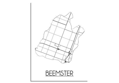 DesignClaud De Beemster Plattegrond poster