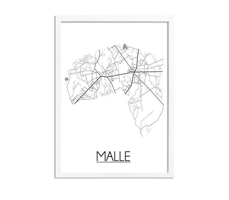 Malle Plattegrond poster