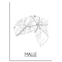 Malle Stadtplan-poster