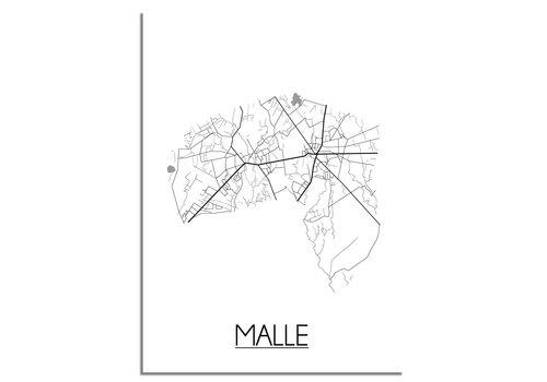 DesignClaud Malle Plattegrond poster