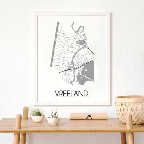 Een stadskaart poster als zakelijk geschenk