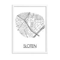 Sloten Plattegrond poster