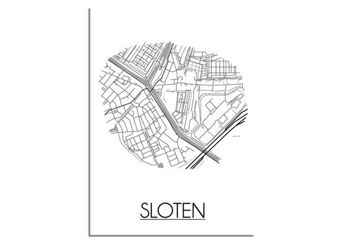 DesignClaud Sloten Plattegrond poster