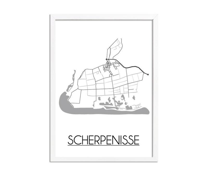 Scherpenisse Stadtplan-poster