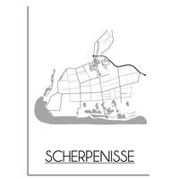 Scherpenisse Plattegrond poster