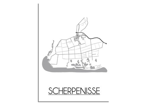 DesignClaud Scherpenisse Plattegrond poster