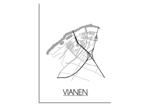 DesignClaud Vianen Plattegrond poster