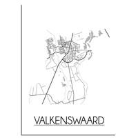 Valkenswaard Plattegrond poster
