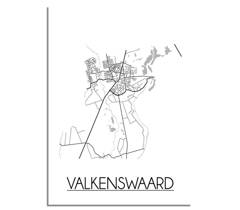 Valkenswaard Stadtplan-poster