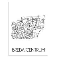 Breda Centrum Plattegrond poster